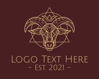 Witchcraft - Occult Goat Symbols logo design