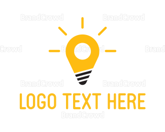 Bulb - Spot Light logo design