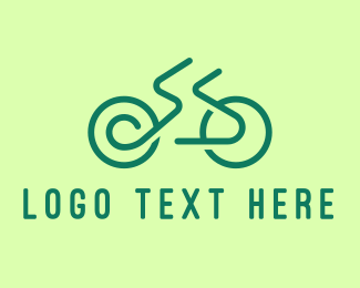 Bicycle Tournament - Minimal Green Bicycle logo design