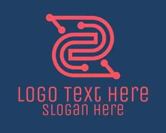 System - Software Program Circuit logo design