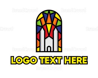 Chapel - Colorful Mosaic Church logo design