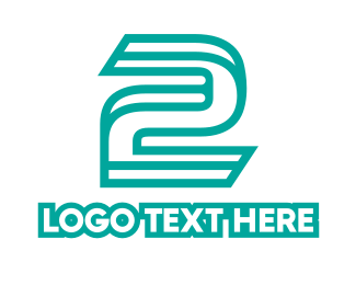 Number 2 - Outline Number 2  logo design