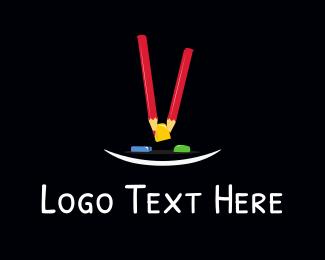 Color Pencil - Red Pencils logo design