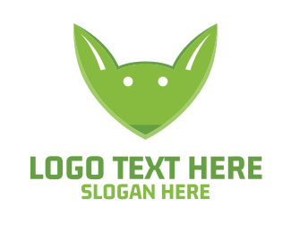 Foundation - Green Fox Face logo design