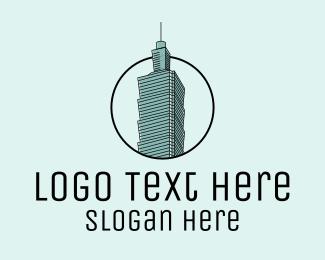 Asia - Taiwan Skyscraper logo design