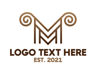 Lamb - Luxury M Horns logo design
