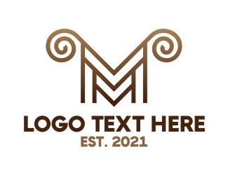 Horns - Luxury M Horns logo design