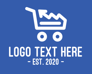 Income - Shopping Sales Arrow logo design
