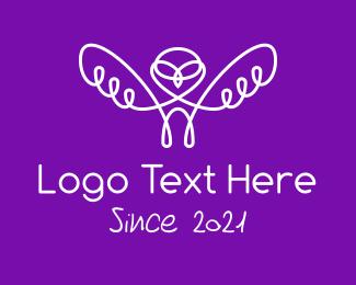 Pilot - Minimalist Owl Pilot logo design