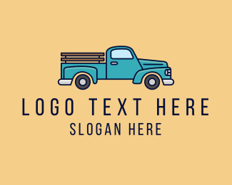 Country Truck - Pickup Utility Truck logo design