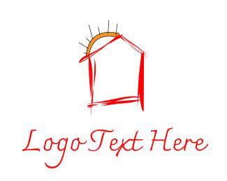 Doodle - Red House logo design