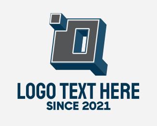 3d - 3D Graffiti Letter D  logo design
