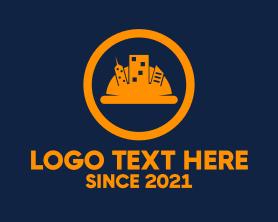 Real Estate - City Construction Hat logo design