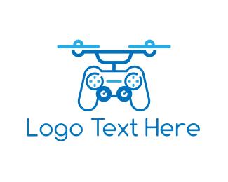 Remote - Controller Drone logo design