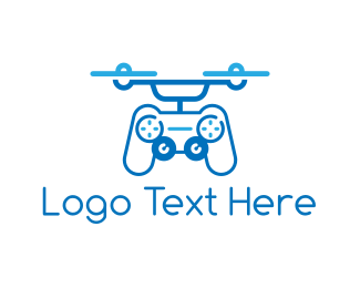Pilot - Controller Drone logo design