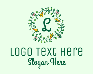 Invitation - Spring Vine Wreath logo design