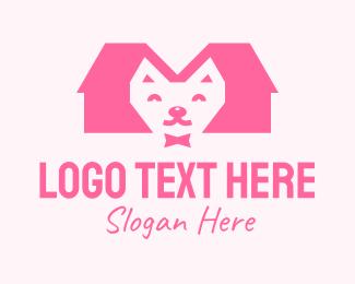 Pink Cat - Pink Kitten Pet Shop logo design