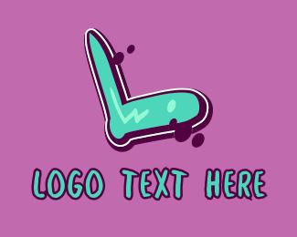Vibrant - Modern Graffiti Letter L logo design