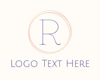 Delicate - Minimalist R Circle logo design