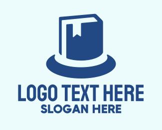 Hat - Blue Hat Book logo design