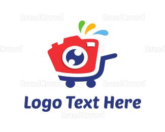 Fun - Camera Stroller logo design
