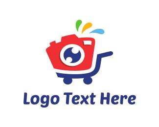 Ecommerce - Camera Stroller logo design