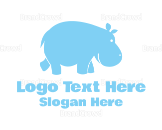 Madagascar - Blue Hippo logo design