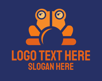 Frog - Orange Frog logo design