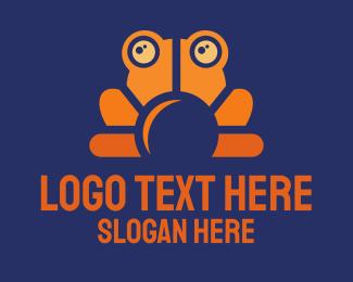 Day - Orange Frog logo design