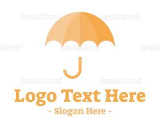 Umbrella - Umbrella J logo design