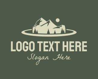 Night Camp - Mountain Road Trip logo design