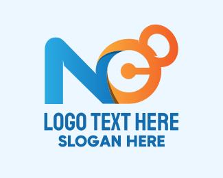 Kettlebell - N & C Kettlebell logo design