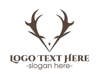 Reindeer - Minimalist Antlers logo design