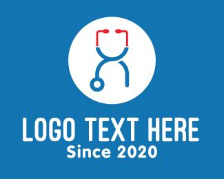 Rx - Medical Stethoscope Letter X logo design