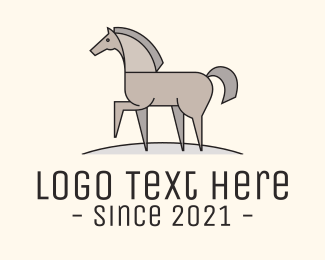Horse Farm - Walking Horse logo design