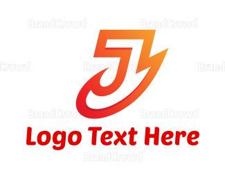 Fire - Fire Letter J logo design