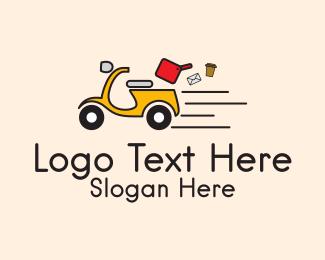 Distribution - Scooter Express Delivery  logo design