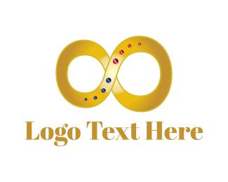 Gemstone - Golden Infinity logo design