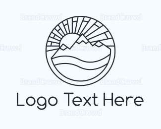 Travel Agency - Round Landscape logo design