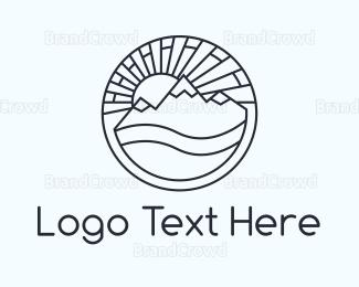 Amazing - Round Landscape logo design