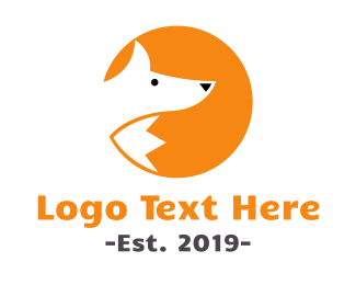 Red Fox - Round Fox logo design