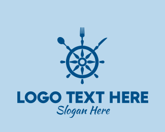 Utensils - Ship Wheel Seafood Restaurant  logo design