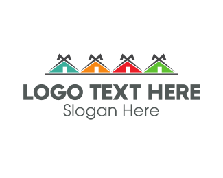 Community - Colorful Neighborhood logo design