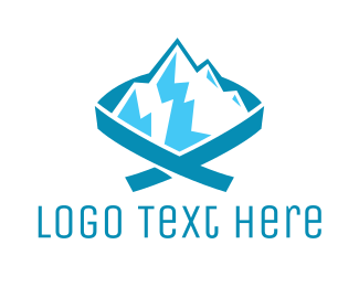 Iceberg - Blue Mountain Ribbon logo design