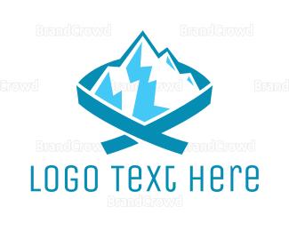Iceberg - Blue Mountain Ribbon logo design