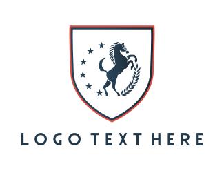 Shield - Horse Shield logo design