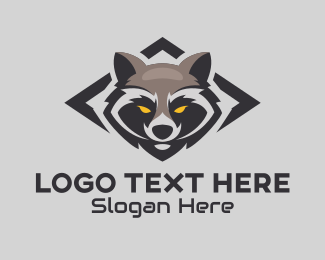 Playoffs - Raccoon Head Mascot logo design