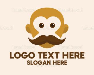 Bald - Old Mustache Barber logo design