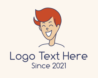 Cheerful - Happy Teenage Boy logo design