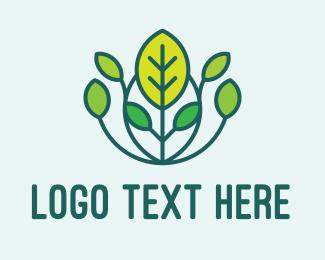 Gardener - Growing Plant Garden  logo design